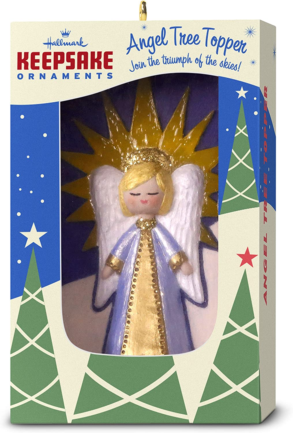 Hallmark Keepsake Christmas Ornament 2018 Year Dated, Nifty Fifties Angel Tree Topper