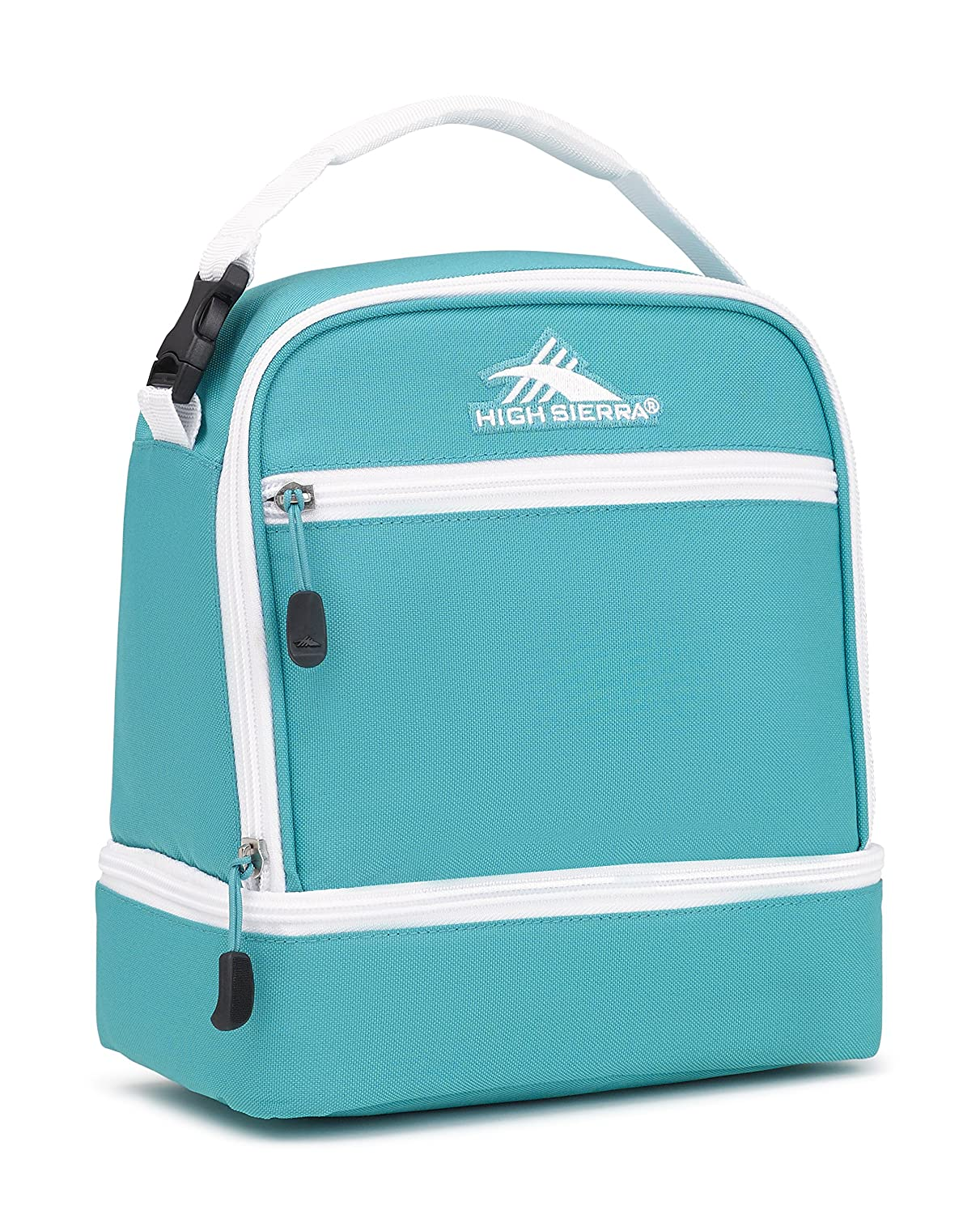 High Sierra Stacked Compartment Lunch Bag Aquamarine/White High Sierra Sport Company 74714-5403