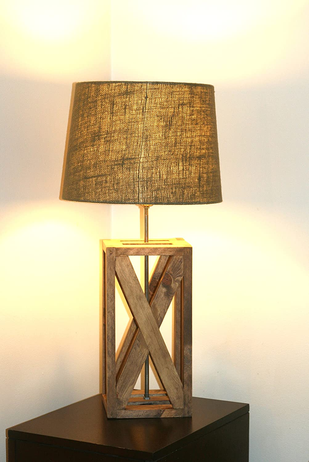 Amazon rustic geometric lamp rustic wooden lamp handmade amazon rustic geometric lamp rustic wooden lamp handmade wood lamp rustic x design table lamp geometric wood lamp hand crafted lighting lamp wood geotapseo Image collections