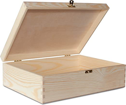 Creative Deco A4 Caja Madera para Decorar | 33,8 x 24,8 x 10 cm ...