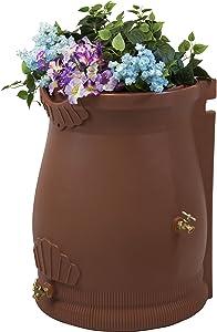 Good Ideas RWURN50-TC Rain Wizard Rain Barrel Urn, 50 gallon, Terra Cotta