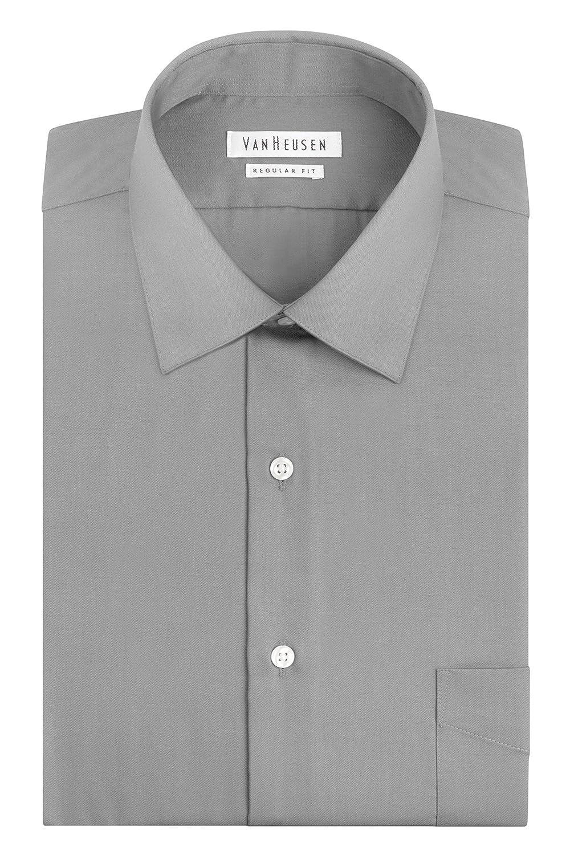 Van Heusen mens Regular Fit Lux Sateen Dress Shirt 20F7779