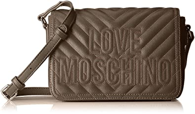 Love Moschino Borsa Quilted Pu, Women s Shoulder Bag, Grey (Taupe), 7x15x21 c9410ecd43