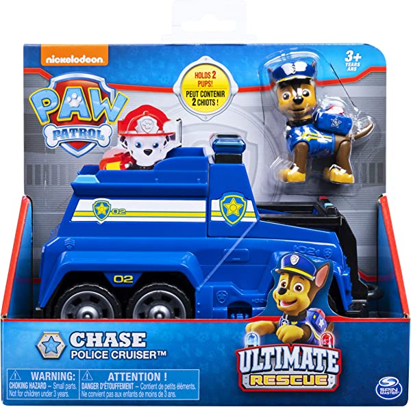 PAW Patrol Ultimate Rescue – Chase Police Cruiser preschool play vehicle toy for kids in package