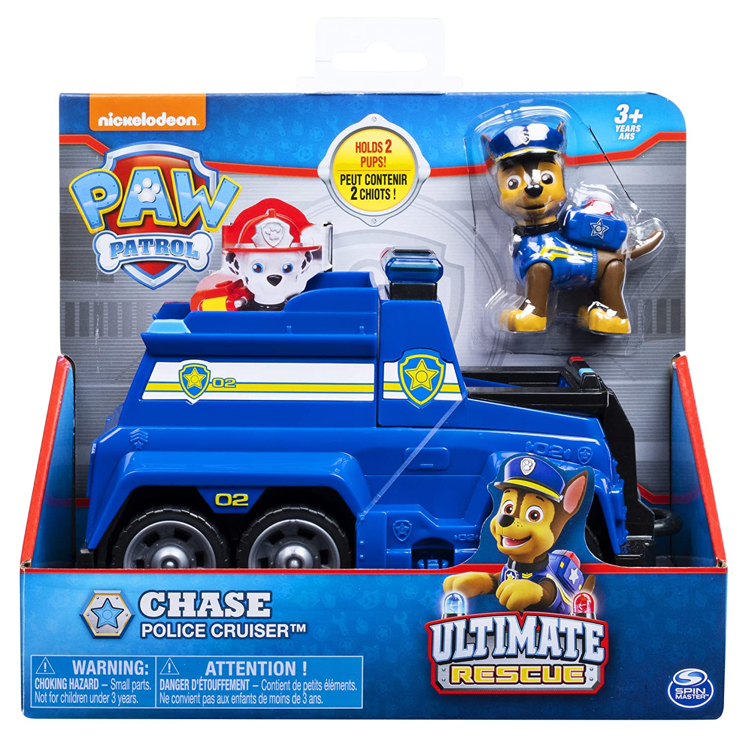 PAW Patrol Chases Ultimate Rescue Police Cruiser with Lifting Seat and Fold-Out Barricade for Ages 3 and Up