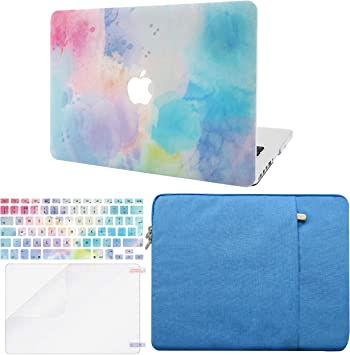 2020//2019//2018, Touch ID Rainbow Mist w//Keyboard Cover Plastic Hard Shell Case A1932 2 in 1 Bundle KECC Laptop Case for New MacBook Air 13 Retina