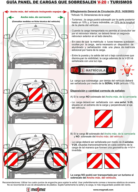 MAGMA Señal V20 Homologada , Placa V20 Portabicicletas y Carga ...