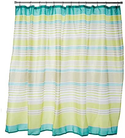 Carnation Home Fashions Brighton Extra Wide Printed Fabric Shower Curtain 108 Inch By
