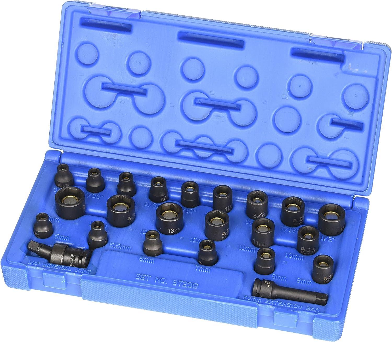 3 Piece CTA Tools 1069 17mm//19mm//21mm Crank Bolt Socket Set