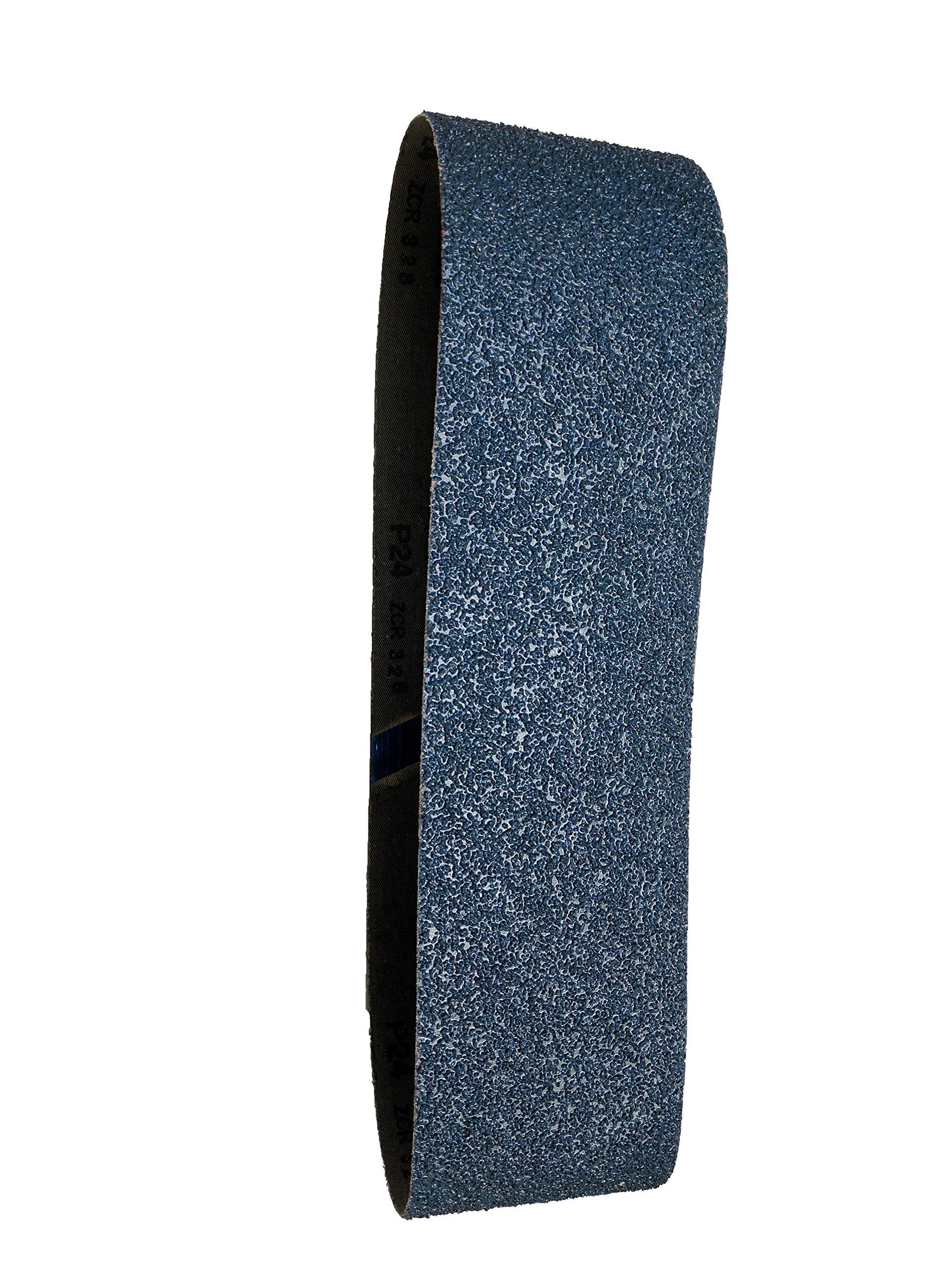 Sungold Abrasives 67851 Blue Zirconia Cloth 40 Grit Sanding Belts (6 Pack), 2 x 42''