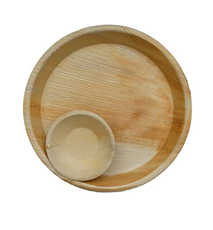 buy somani areca leaf plate disposable plate 12 inch round plate 5