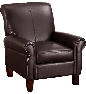 Dorel Living Elegant Faux Leather Club Chair
