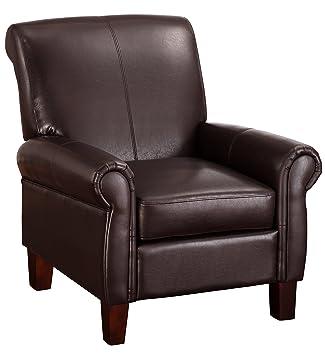 Amazoncom Dorel Living Elegant Faux Leather Club Chair Kitchen