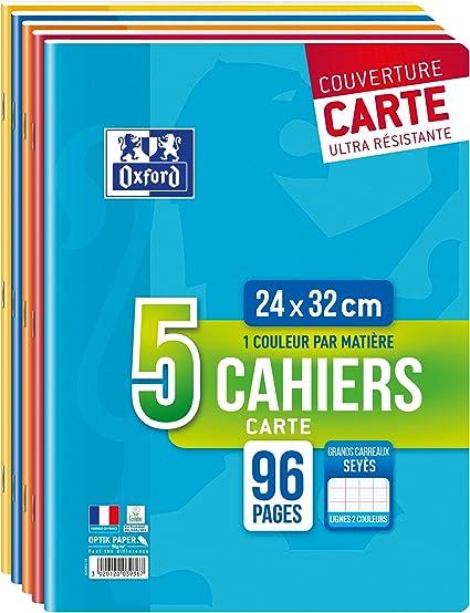 Oxford Color Life Cuadernos con grapas, 24 x 32 cm, colores surditos, pack of 5: Amazon.es: Oficina y papelería