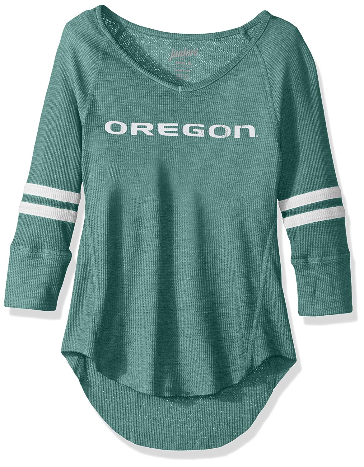 NCAA Oregon Ducks Juniors Outerstuff Relaxed 3//4 Raglan Thermal Top Medium 7-9 Team Color