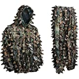 Ambush HD Brown Leafy Camouflage Hunting Suit (Large)