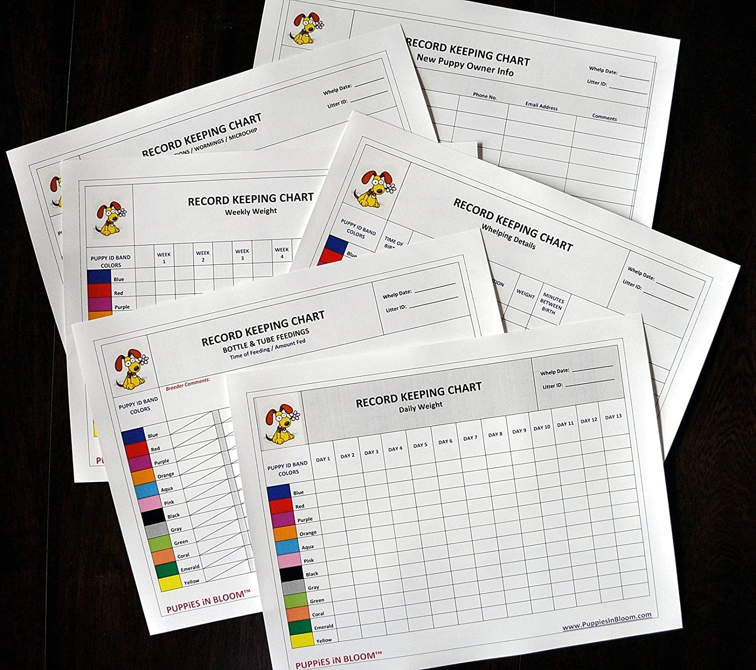 Record Keeping Charts for Breeders