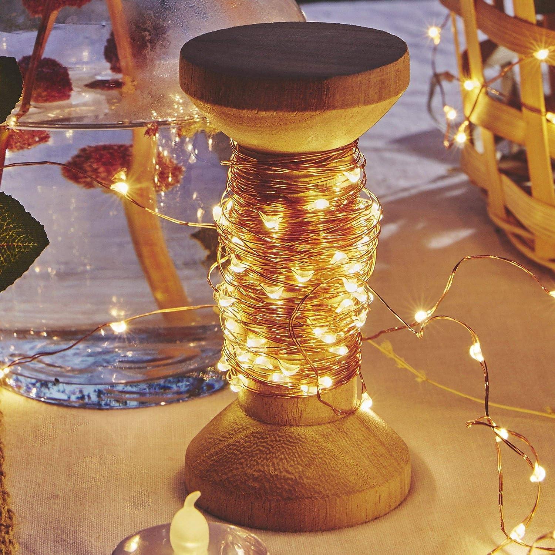 Guirlande LEDs pour Deco Chambre Ambiance po/étique et Romantique Bobine 20M Guirlande Lumineuse LED d/éco de No/ël SKYLANTERN Guirlande LED Cuivre 20M