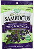 Nature's Way Organic Lozenge, Elderberry Zinc, 24 lozenges, 2 Count.