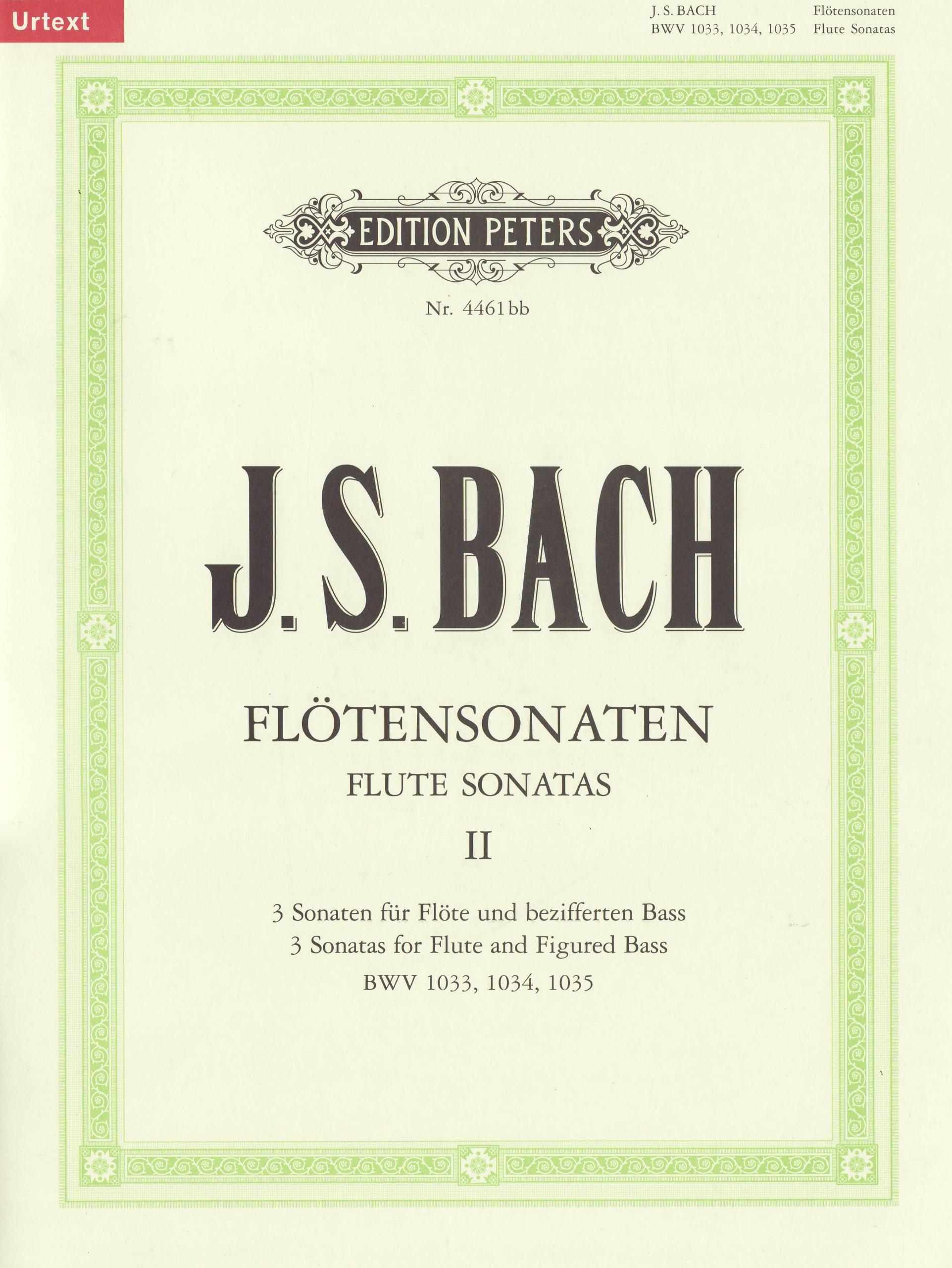 Sonates Volume 2 Bwv1033-35 - Fl/Po (Allemand) Brochure – 1 janvier 2009 Johann Sebastian Bach Peters B0009XZT9A Musikalien