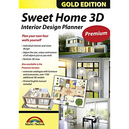 Sweet Home 3D Premium Edition   Interior Design Planner With An Additional  1100 3D Models And