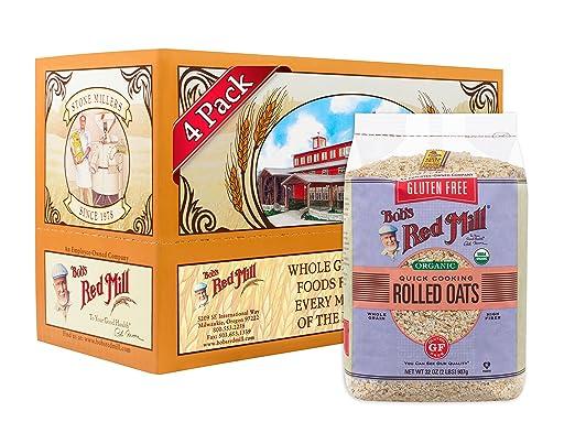 Bobs Red Mill Avena orgánica de cocción rápida sin gluten ...