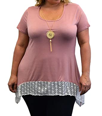 41e372889b9  N5222X-DKRSE-1X  Urban Rose Top for Women - Plus Size