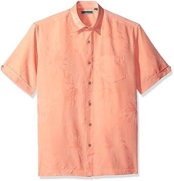 7350072d19 Cubavera Men s Short Sleeve Polyester Tonal Floral Jacquard Shirt with  Pocket
