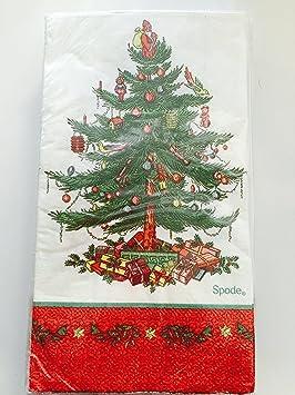 Rojo Frontera Spode árbol de Navidad toallas de papel para invitados/cena servilletas: Amazon.es: Hogar