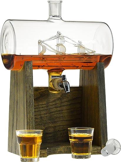 Amazon.com | Liquor Decanter - Scotch Whiskey Decanter - 1150ml ...