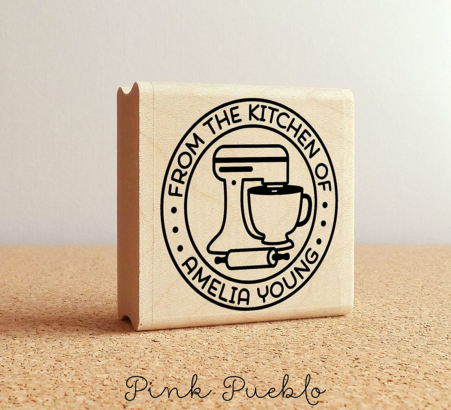 Personalized Baking and Cooking Rubber Stamp, From the Kitchen of Stamp, Great for Baking Gifts