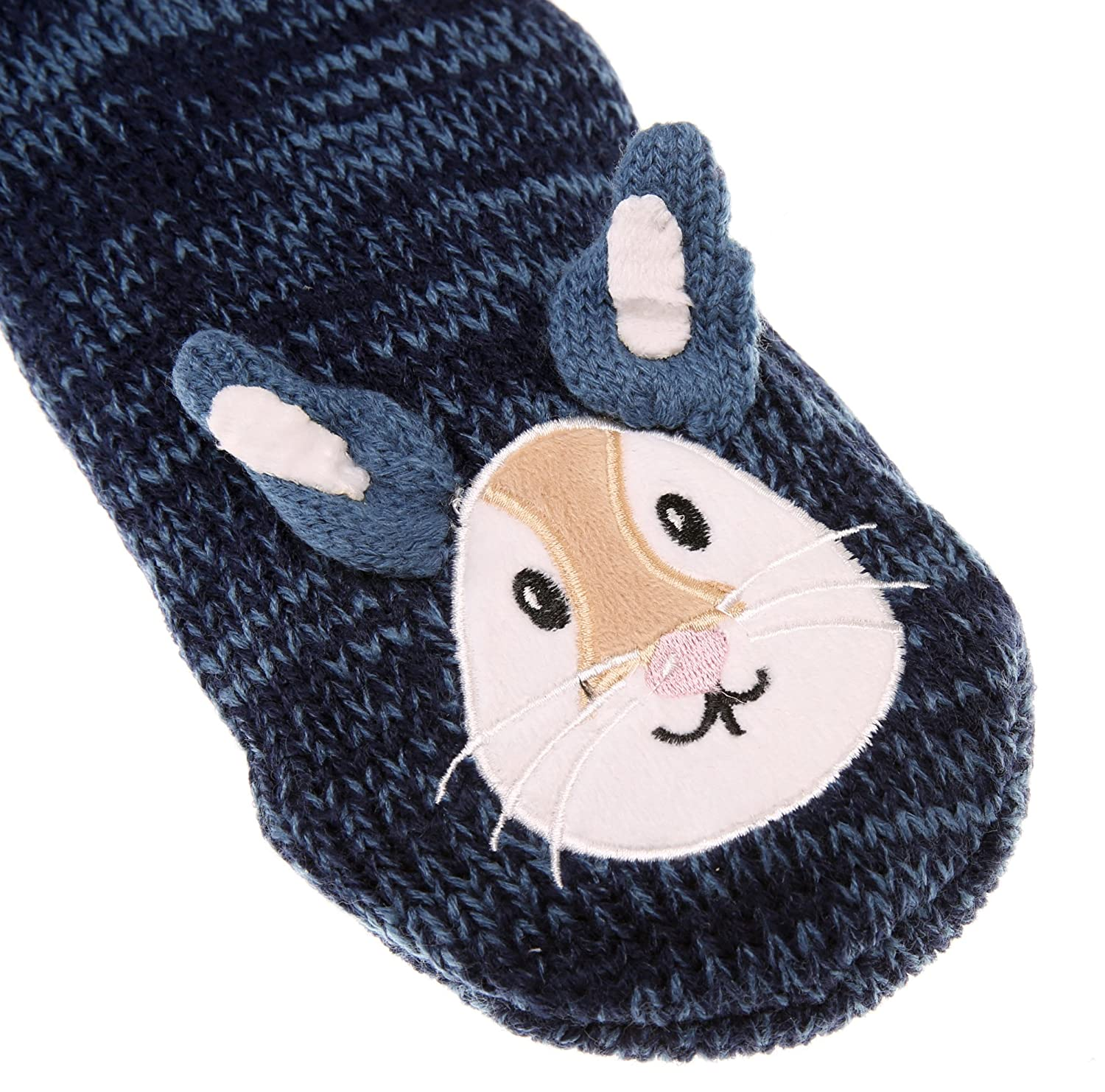 Amazon.com: YEBING Womens Cute Knit Cartoon Animal Face Soft Warm Fuzzy Fleece Lining Winter Home Slipper Socks (Rabbit): Home & Kitchen