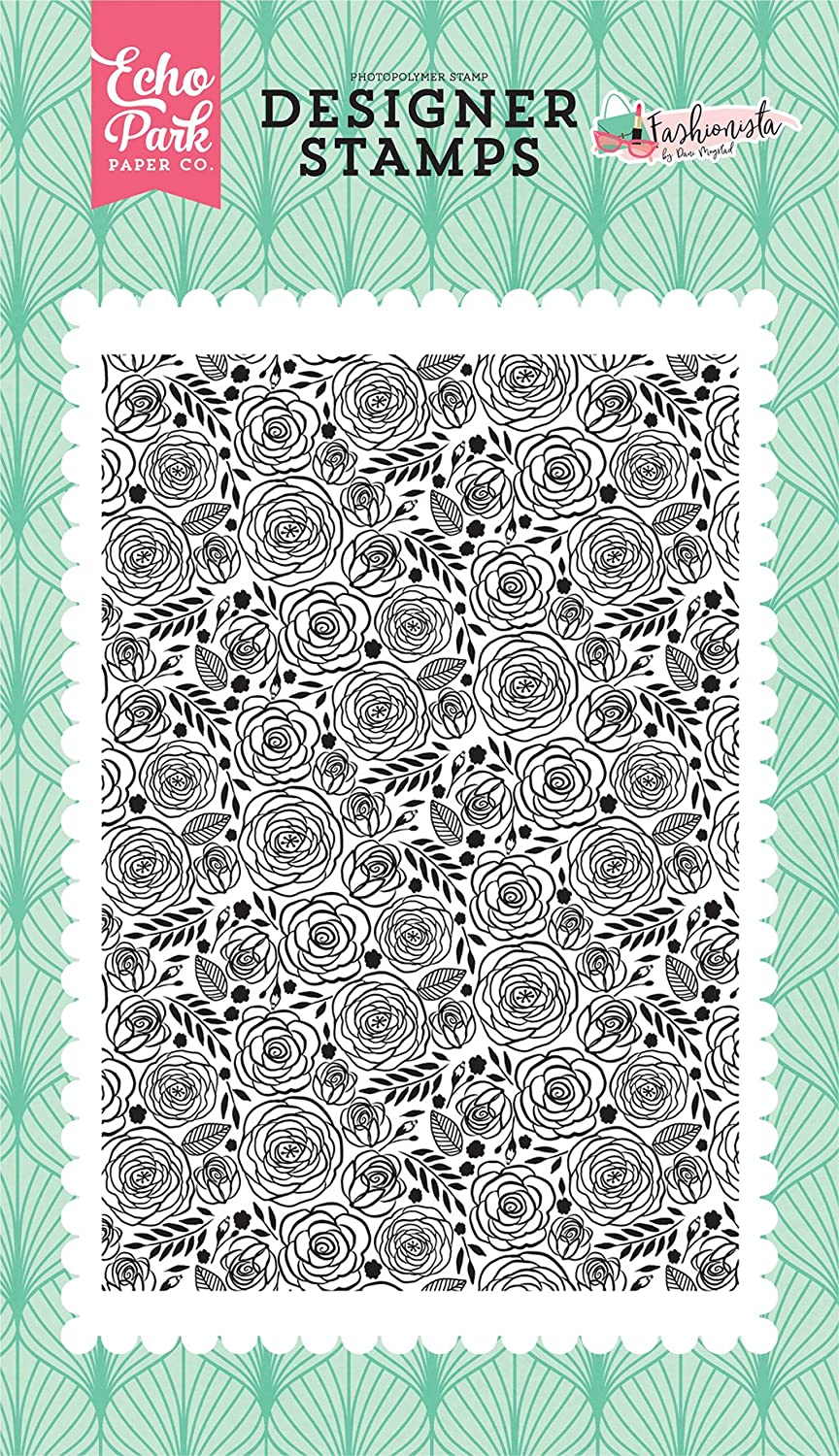 Echo Park Paper Company Dainty Rose Stamp