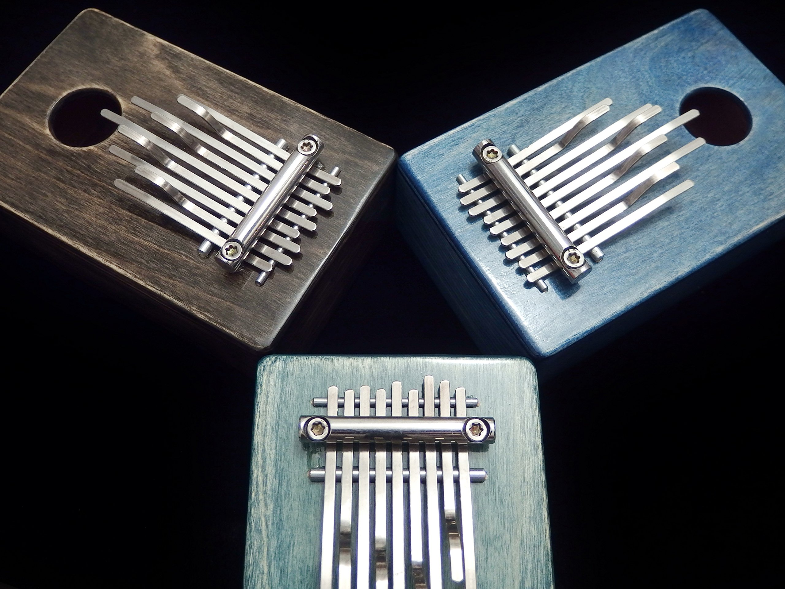 Kalimba / Shamanic rainbow / (Blue) Sansula Thumb Piano Great sound by Shamanicshop (Image #5)