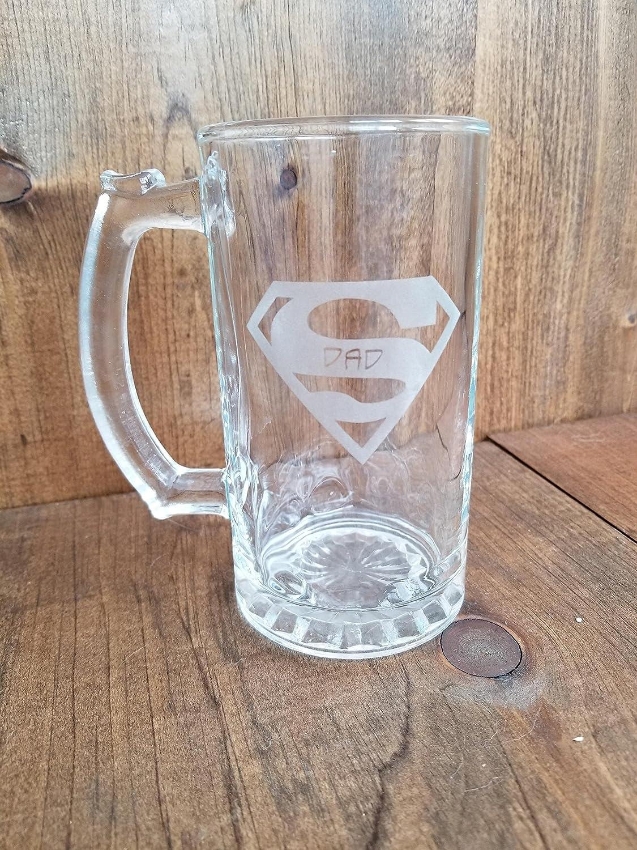 Super-Dad Glass Beer Mug
