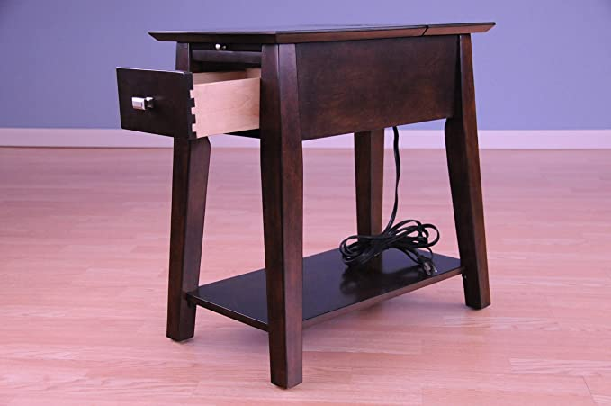 Amazon.com: Table with Charging Station~Side End or Sofa Table~USB ...