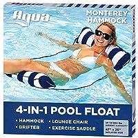 Aqua 4-in-1 Monterey Hammock Inflatable Pool Float, Multi-Purpose Pool Hammock (...