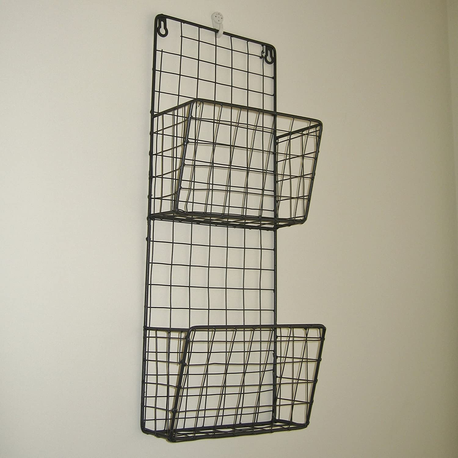 Vintage Industrial Style Metal Wire Wall Magazine Letter Rack ...