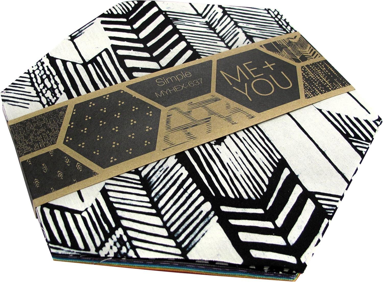 Me You Indah Simple 40 8 Hexagons Hoffman Fabrics MYHEX-637