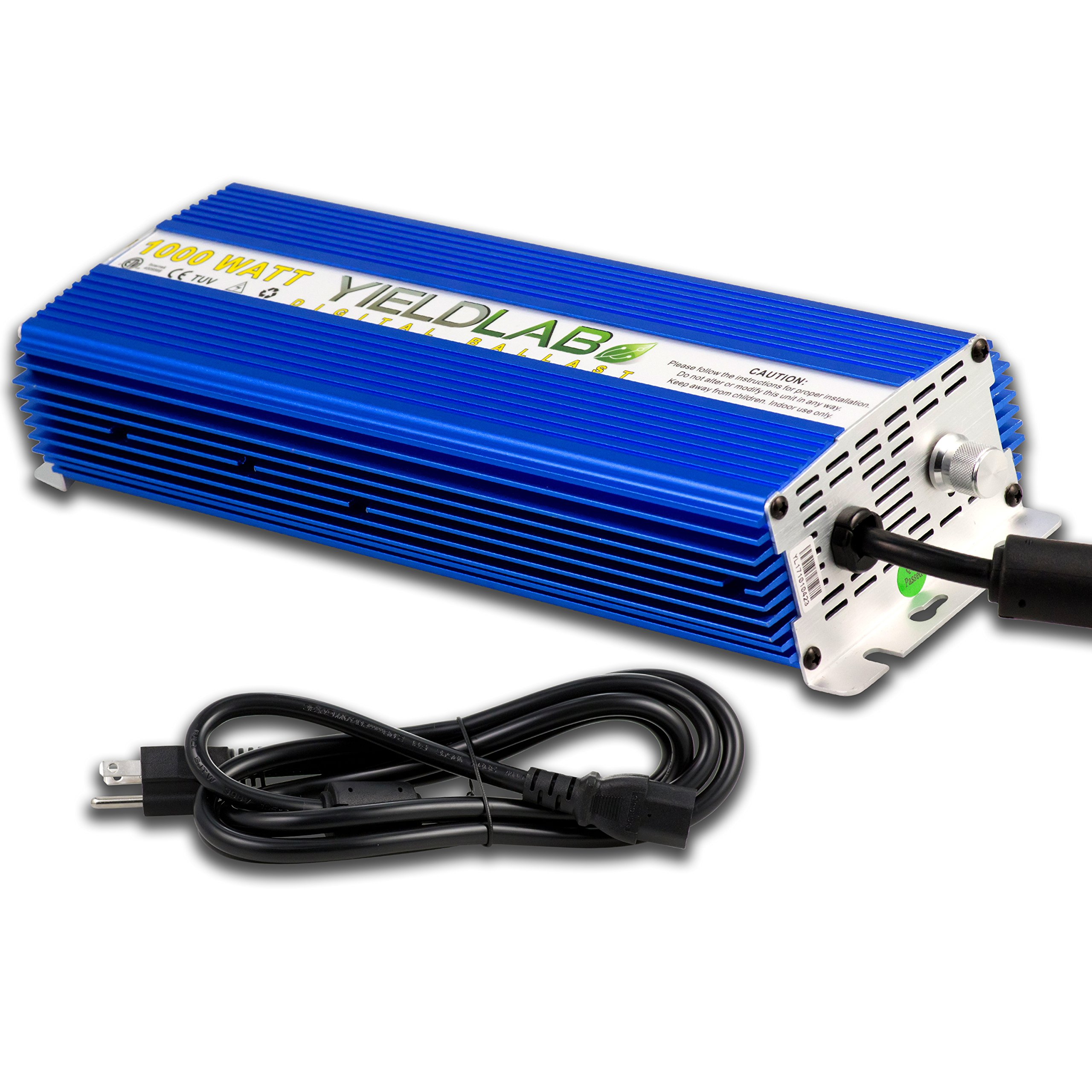Yield Lab Horticulture 1000w Slim Line Dimmable Digital Ballast for HPS MH Grow Light by Yield Lab