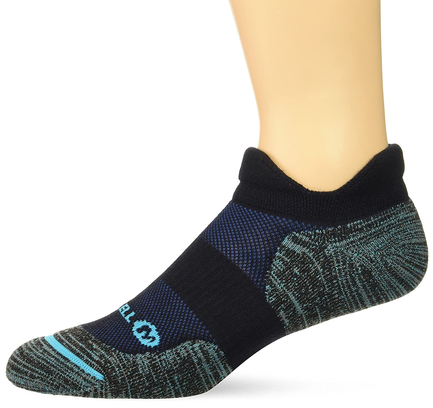 Merrell Men's Dual Tab Trail Runner Sock, Black, m/l MEMF17D001-01