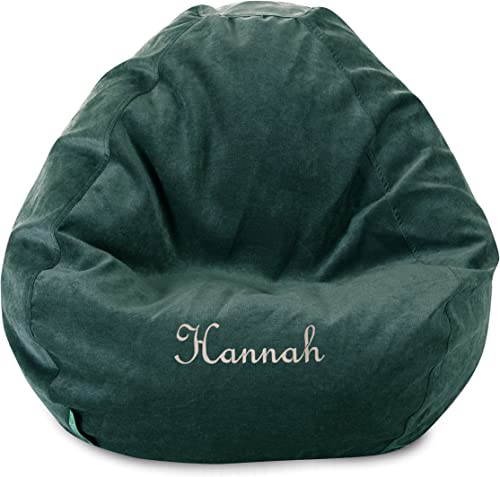 Majestic Home Goods Personalized Embroidered Classic Bean Bag Chair