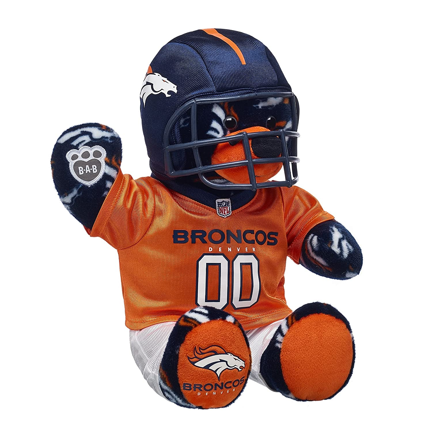 Build A Bear Workshop Denver Broncos Teddy Bear Fan Set Build-a-Bear