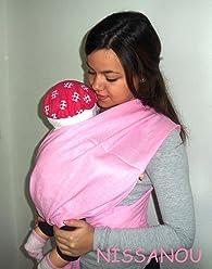 Porte bébé ECHARPE DE PORTAGE neuve ROSE BONBON idée cadeau naissance 91d908add68