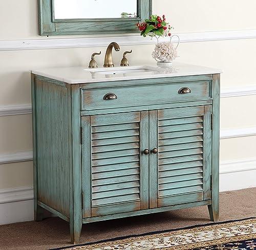 36 Benton Collection Cottage look Abbeville Bathroom Sink Vanity Cabinet – Model CF28884BU