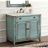 "36"" Benton Collection Cottage Look Abbeville Bathroom Sink Vanity Cabinet - Model # CF28884BU"