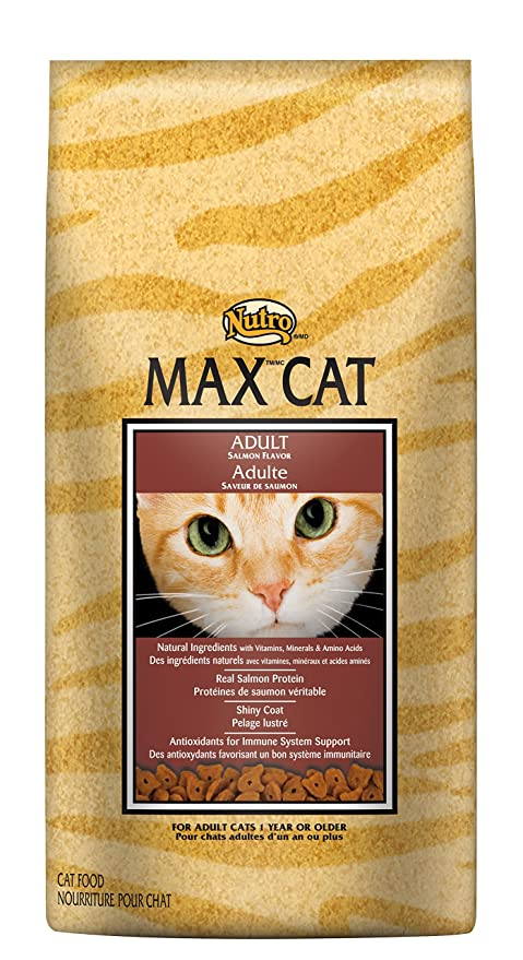 NUTRO MAX CAT Senior Dry Cat Food, Salmon, 3 lbs. by Nutro: Amazon ...