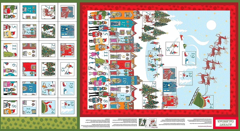 Noël Tissu ADVENT CALENDAR panneaux bas ou Sacs Cadeau 100/% coton