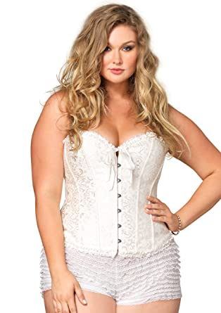 Amazon.com  Leg Avenue Women s Plus Size Sasha Corset  Clothing 0723029a7
