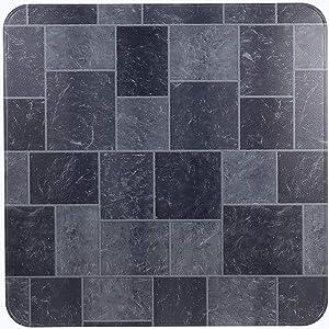 "HY-C T2UL3636GT-1C Slate Tile Stove Board, UL1618 Type 2, 36"" x 36"", Gray"